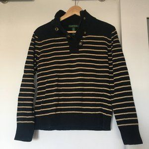 LAUREN Ralph Lauren gold back striped sweater